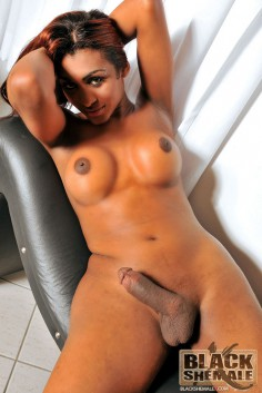 Stunning Black Shemale With Large Cock